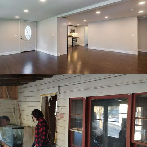 KHH Contracting Full Remodel Before and After